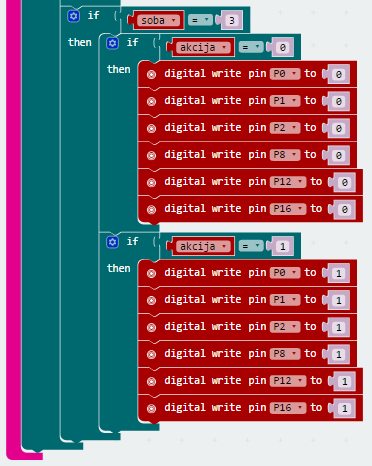 Pametna kuća - automatska svjetla - programski korak - 7D